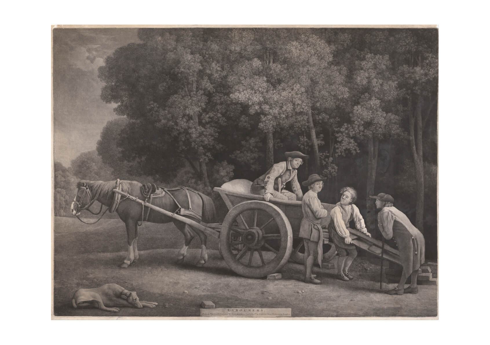 George Stubbs - Labourers Sketch