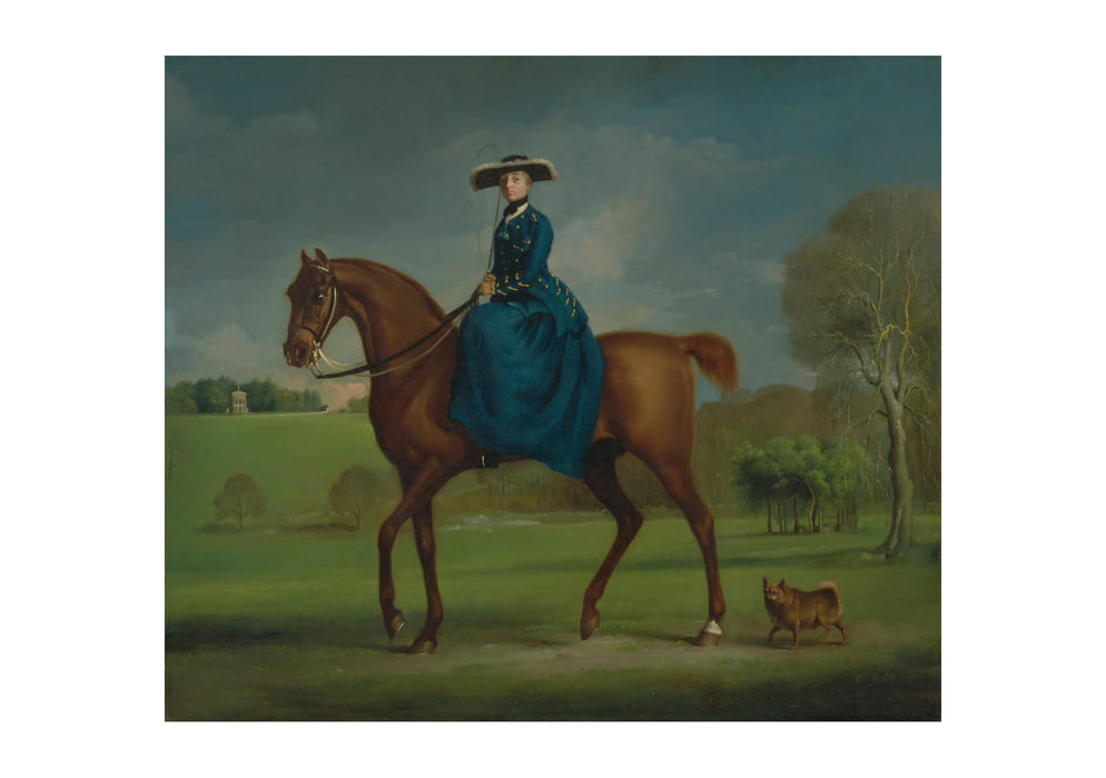 George Stubbs - The Countess of Coningsby in Charlton Hunt
