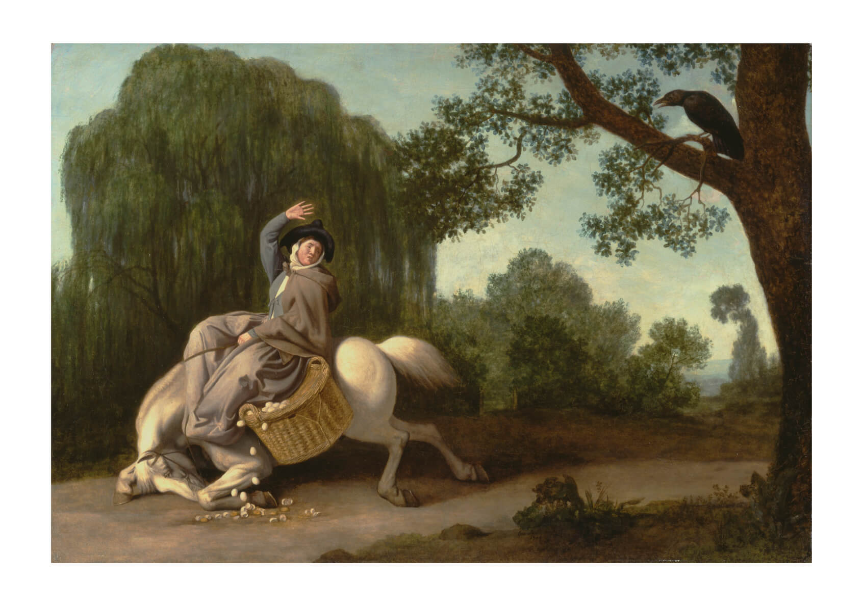 George Stubbs - The Farmer's Wife and the Raven