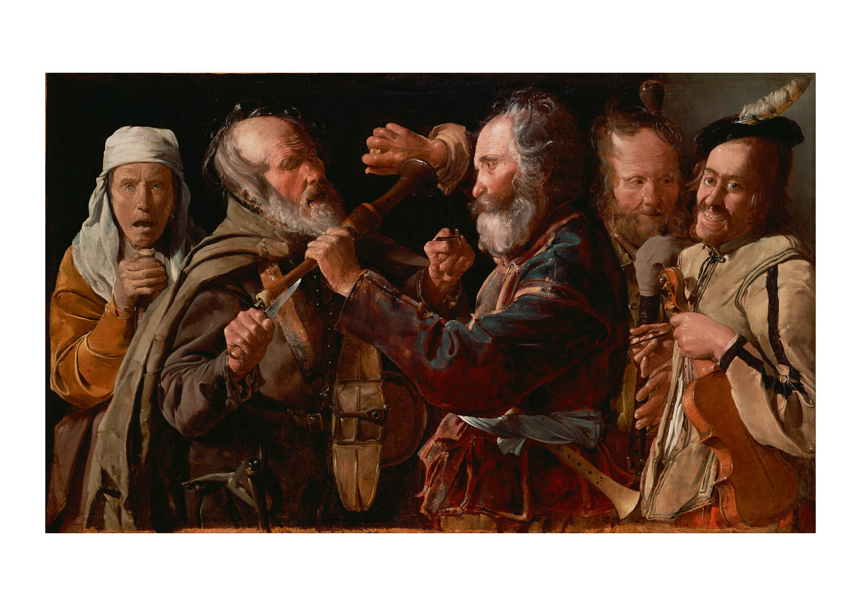 Georges De La Tour French - The Musicians' Brawl