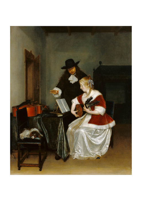Gerard Ter Borch Dutch - The Music Lesson
