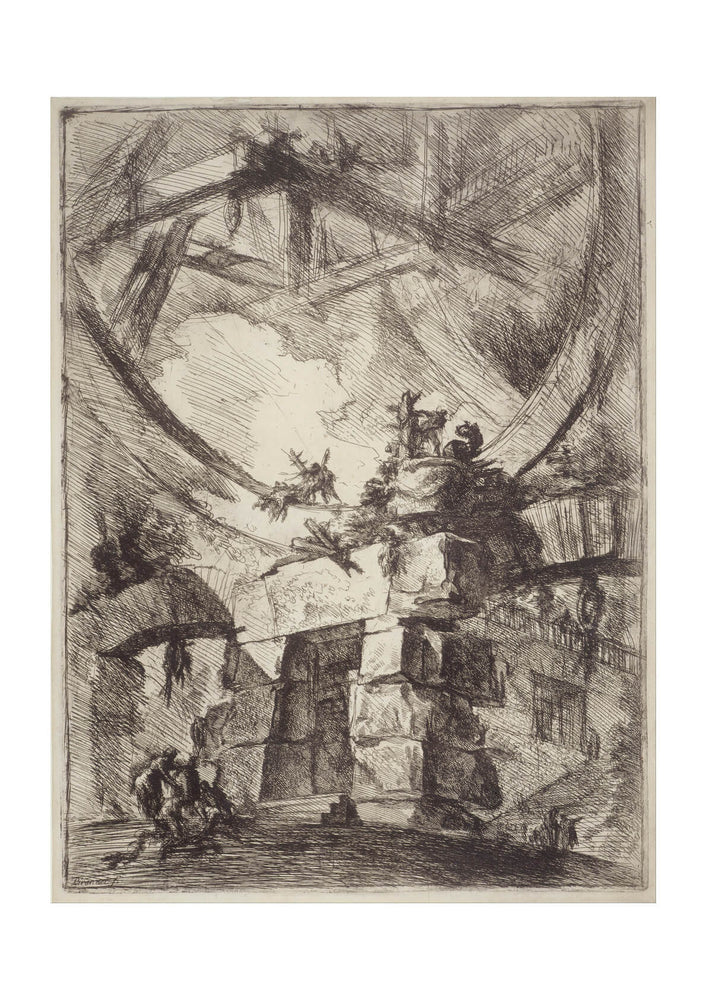 Giovanni Battista - Piranesi Italian The Giant Wheel
