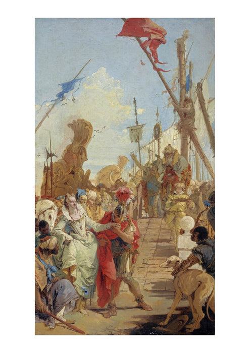 Giovanni Battista Tiepolo The Meeting of Anthony and Cleopatra