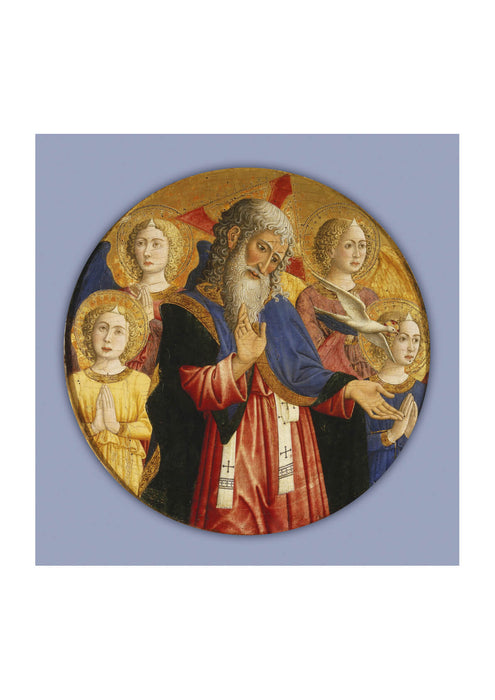 Giovanni Da Rimini - God Father With Four Angels-2