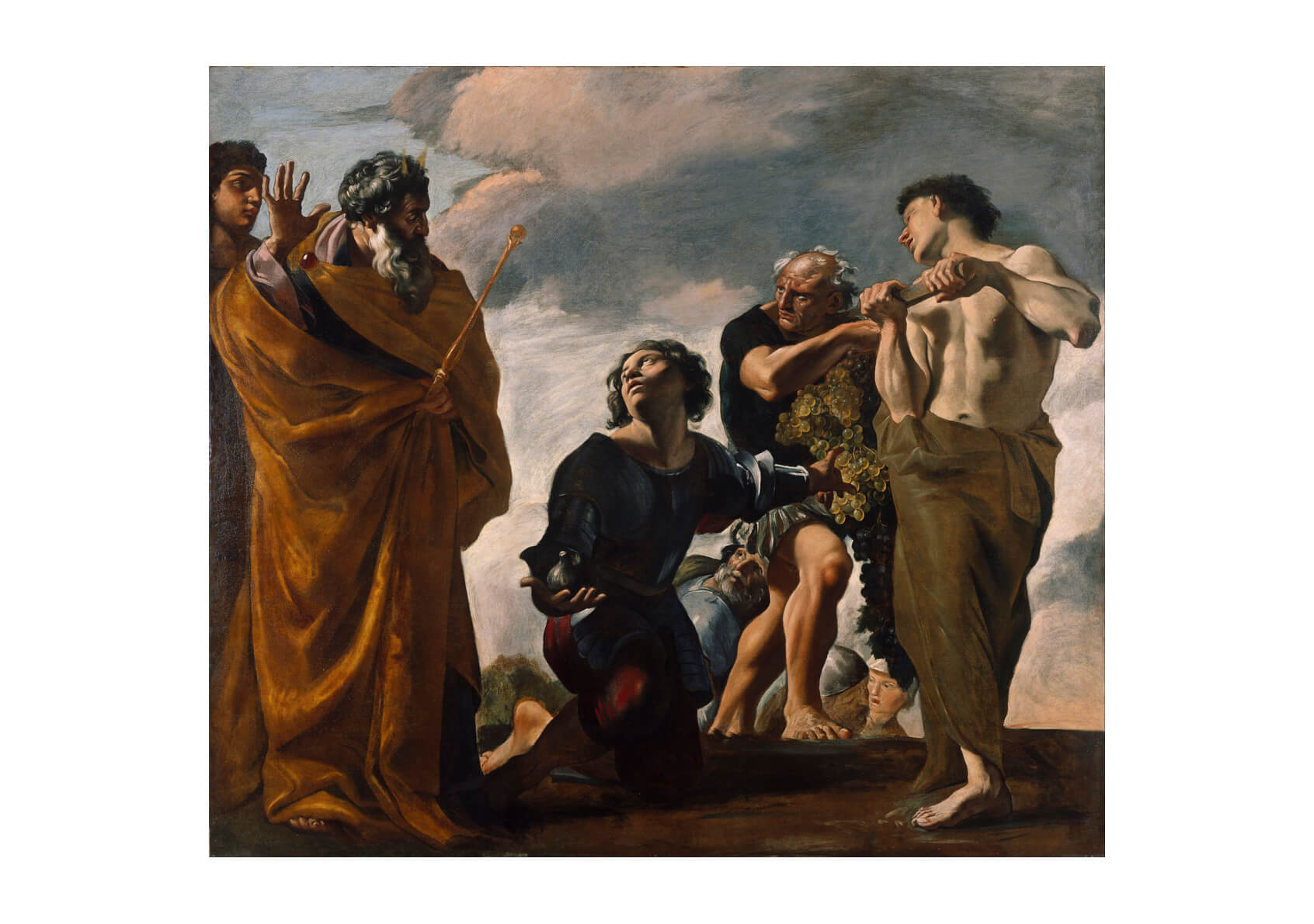 Giovanni Lanfranco - Moses and Messengers From Canaan
