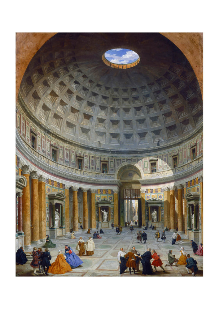 Giovanni Paolo Panini - Interior Of The Pantheon Rome