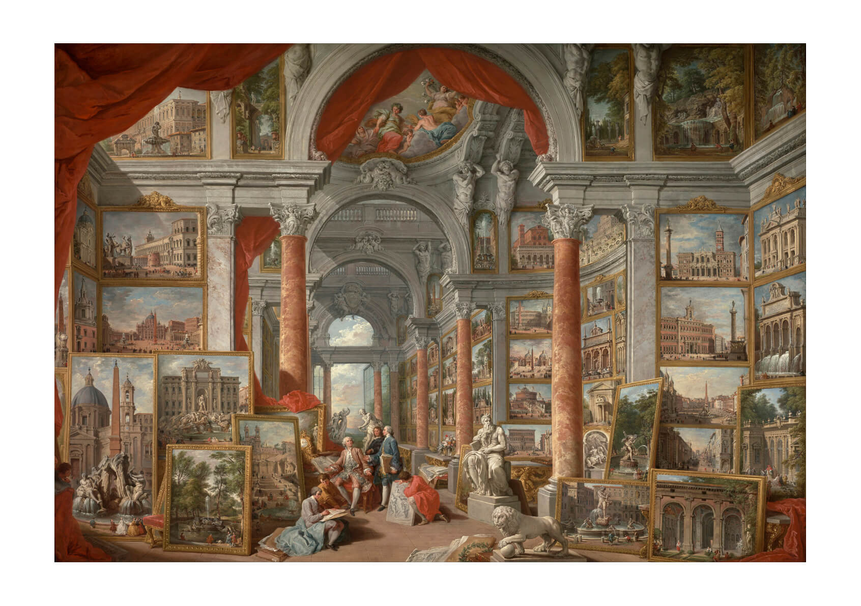 Giovanni Paolo Pannini - Views Of Modern Rome