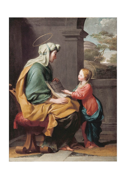 Giovanni Romanelli - Education Of The Virgin
