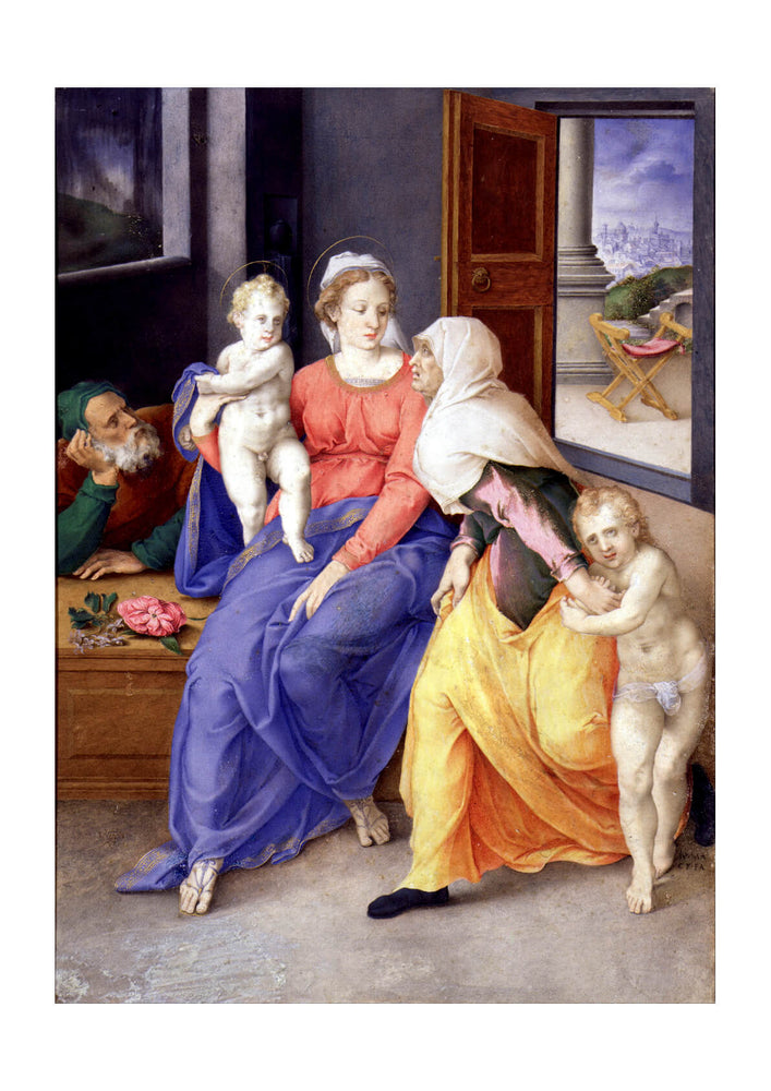 Giulio Clovio - Holy Family With Santa Isabel