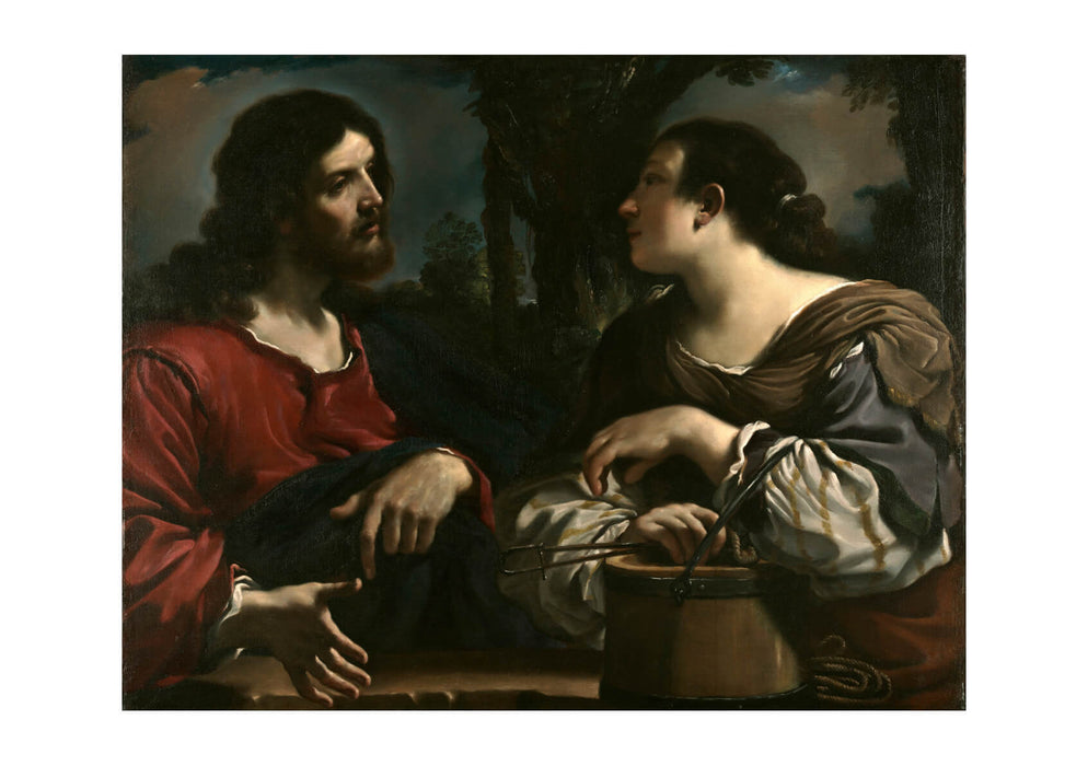 Guercino Giovanni Barbieri - Christ and Woman Of Samaria
