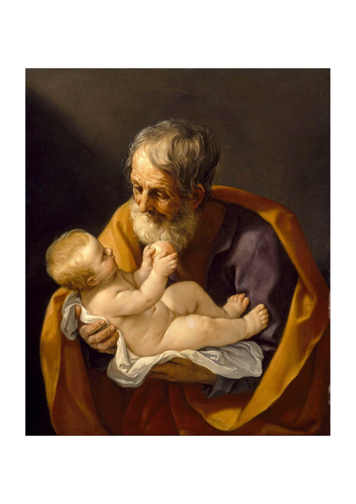 Guido Reni - Saint Joseph And The Christ Child