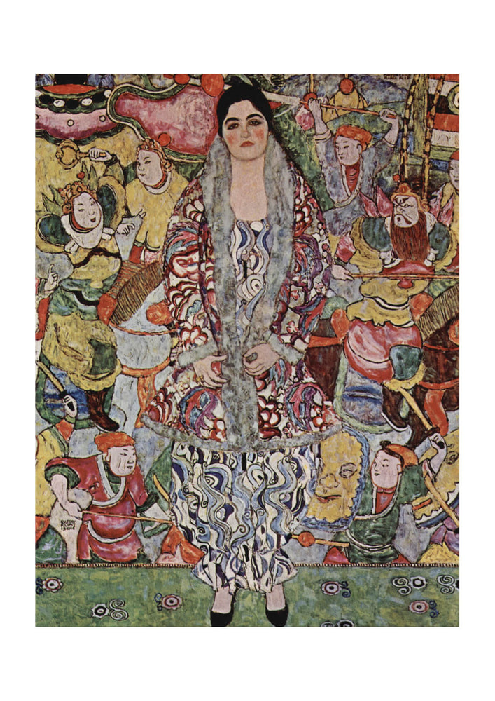 Gustav Klimt - Portrait against colours