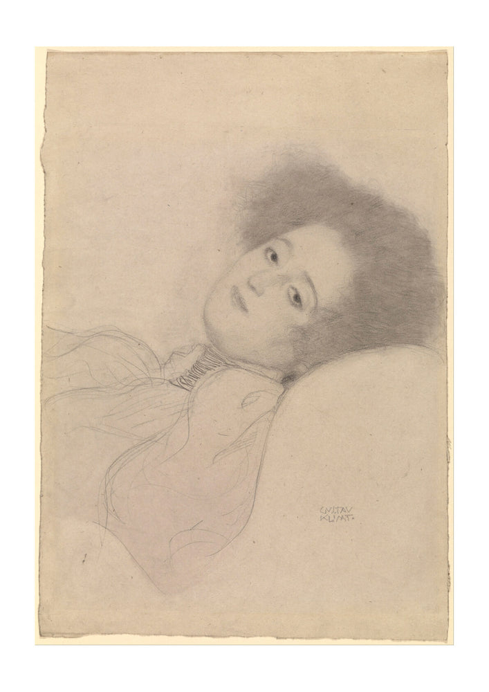 Gustav Klimt - Portrait of a Young Woman Reclining