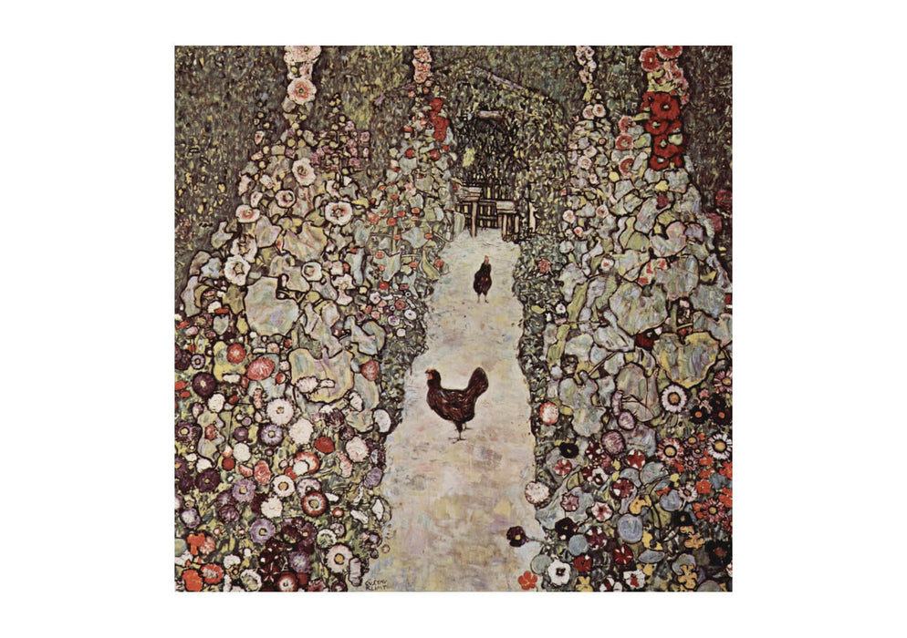 Gustav Klimt - The Path With Chicken
