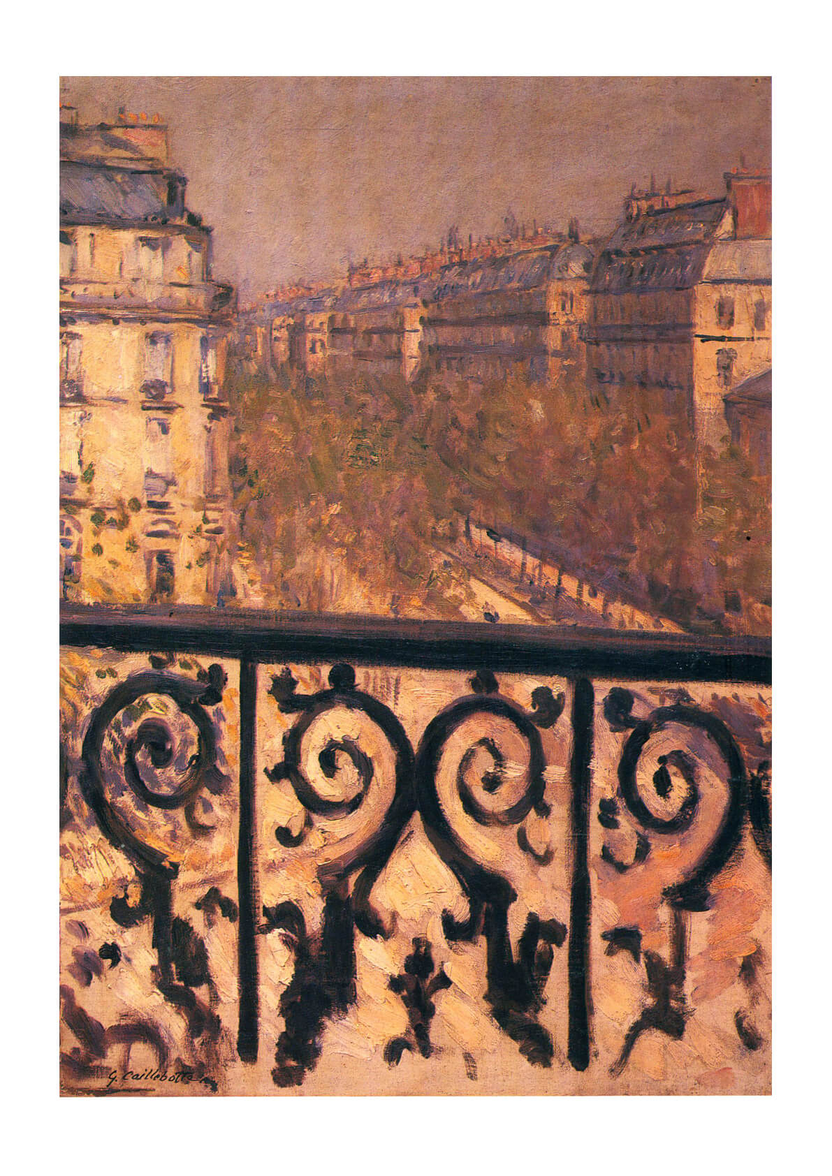 Gustave Caillebotte - A balcony in-paris 1881