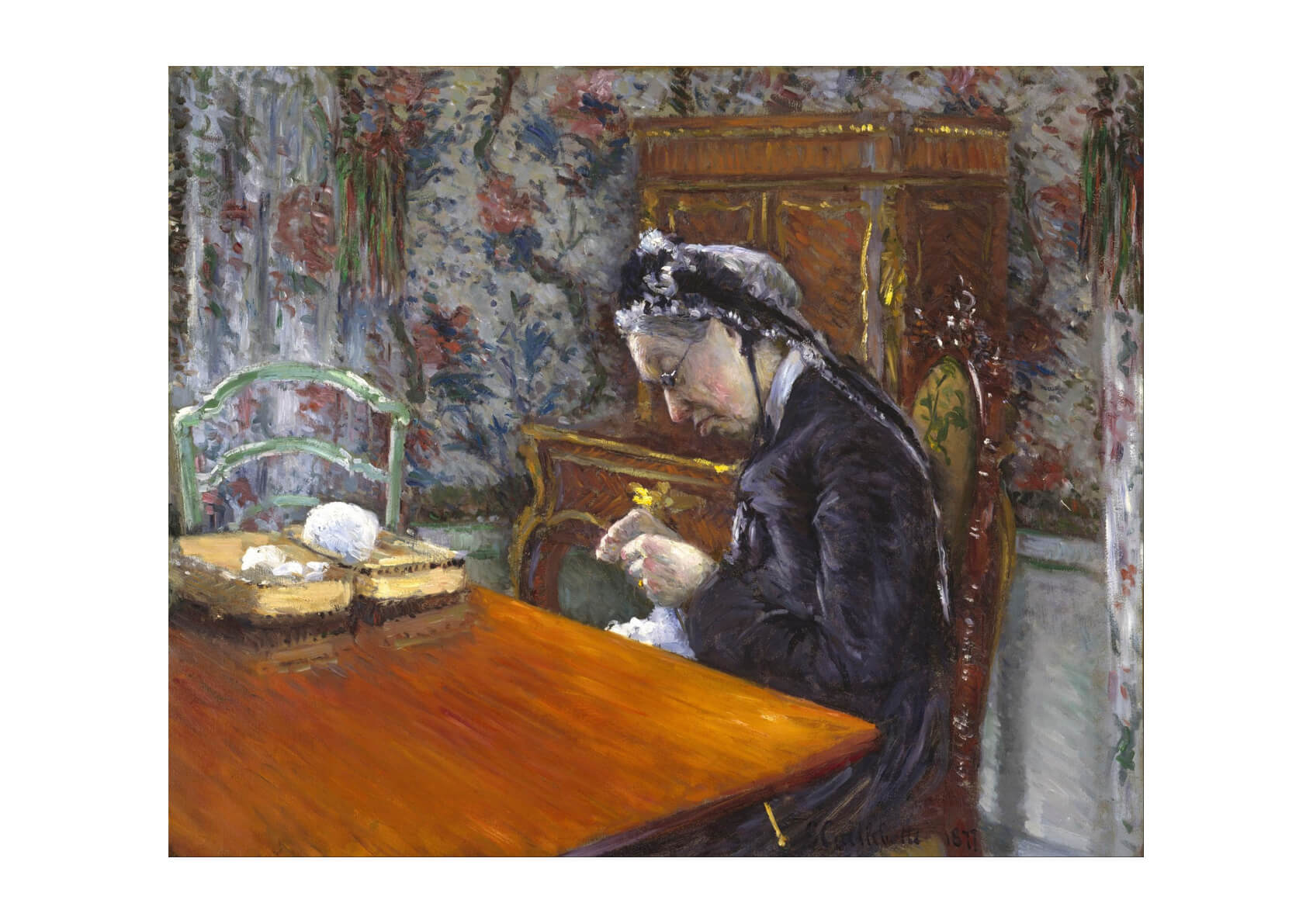 Gustave Caillebotte - Mademoiselle Knitting
