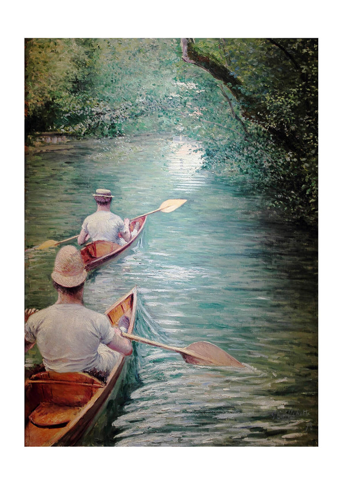 Gustave Caillebotte - Rowing on the River