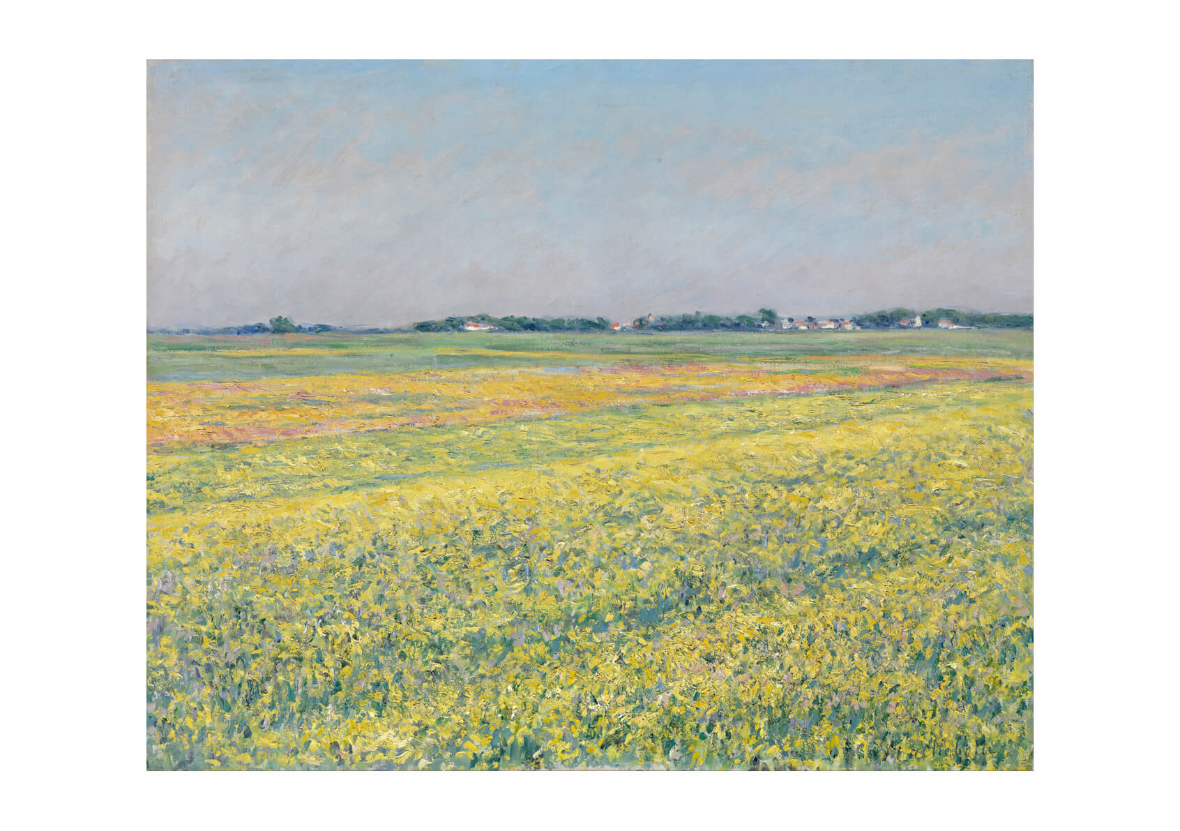 Gustave Caillebotte - The plain of Gennevilliers yellow fields