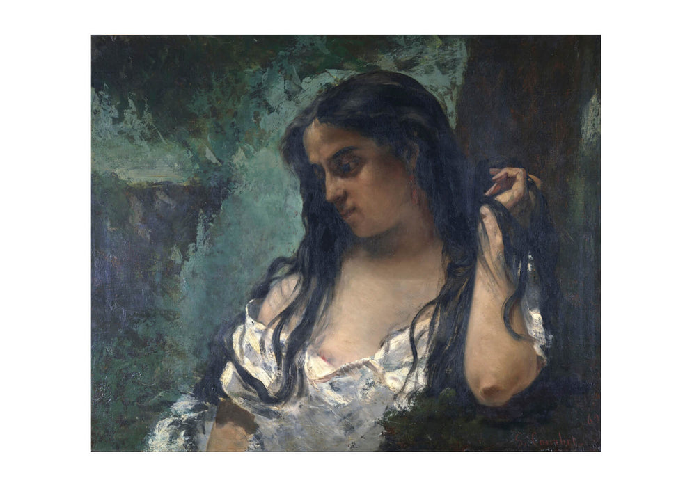Gustave Courbet - Gypsy in Reflection