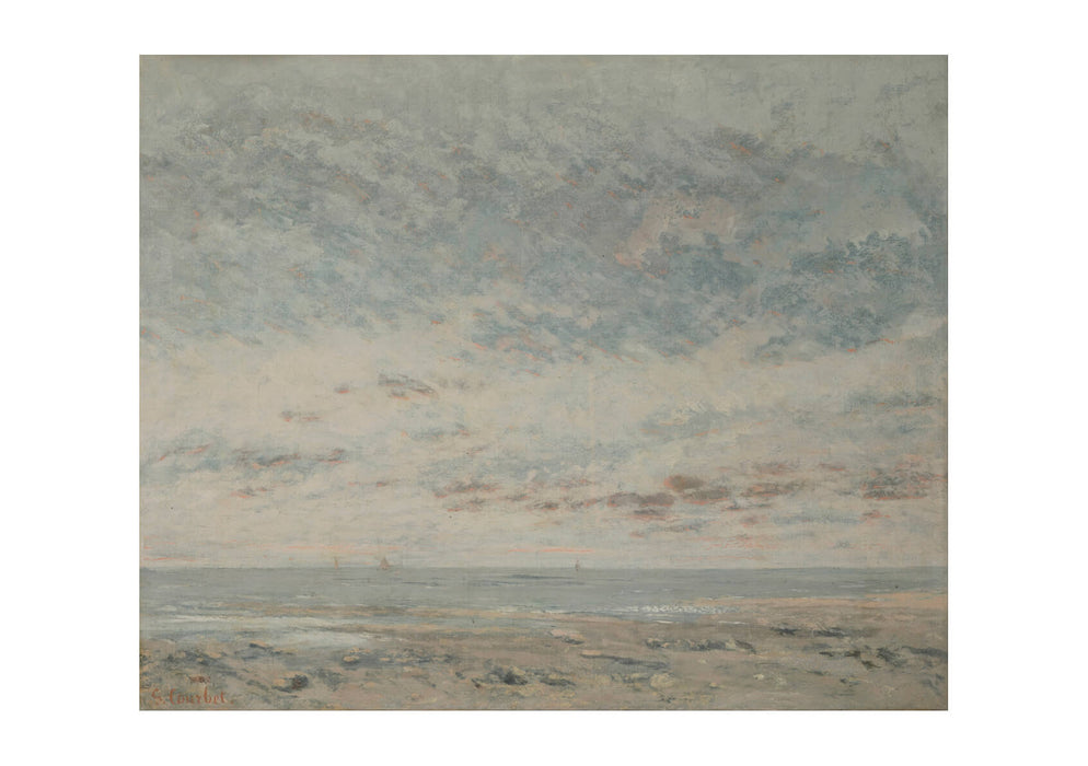 Gustave Courbet - Low Tide at Trouville
