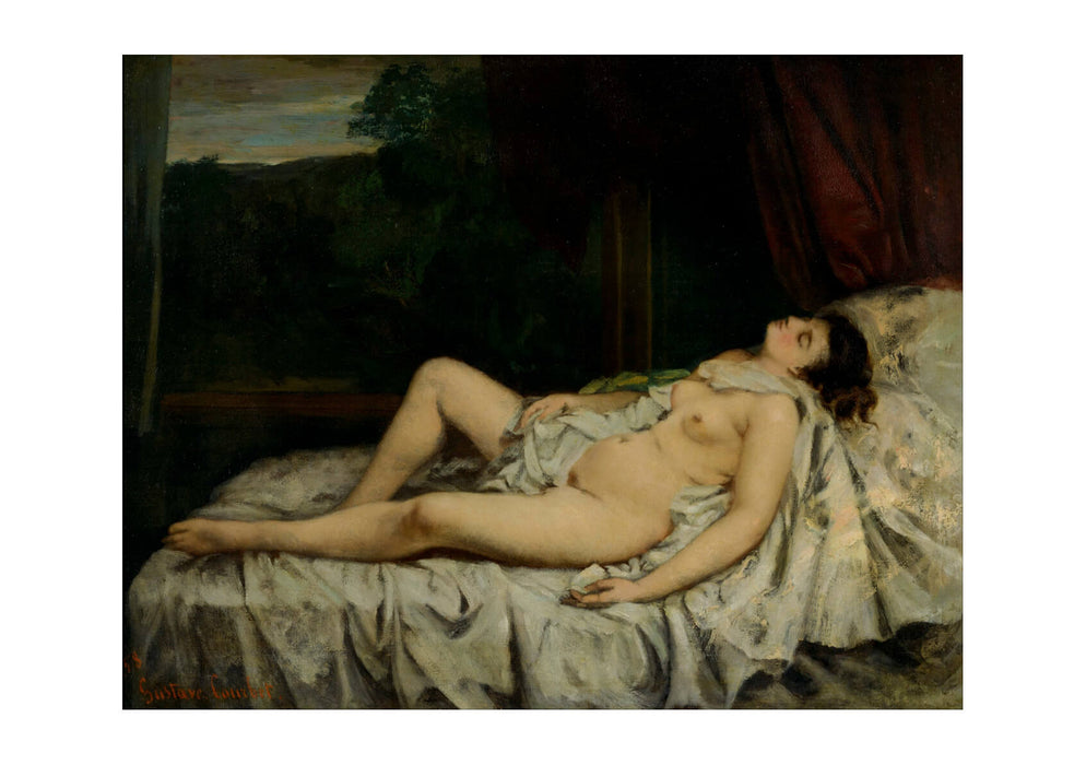 Gustave Courbet - Sleeping Nude