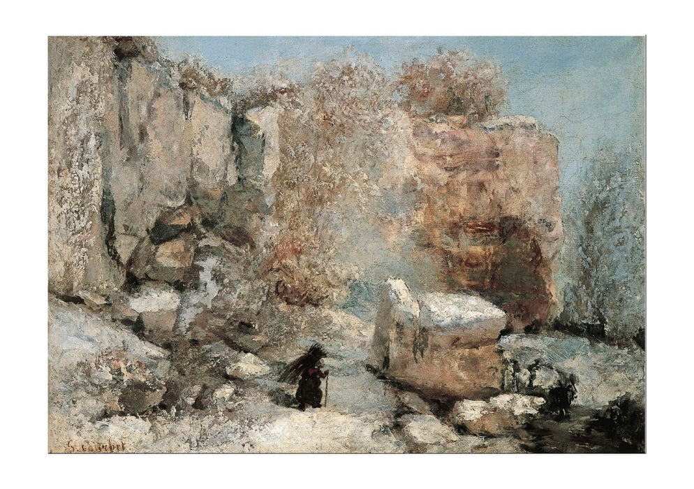 Gustave Courbet - Snow Effect In A Quarry