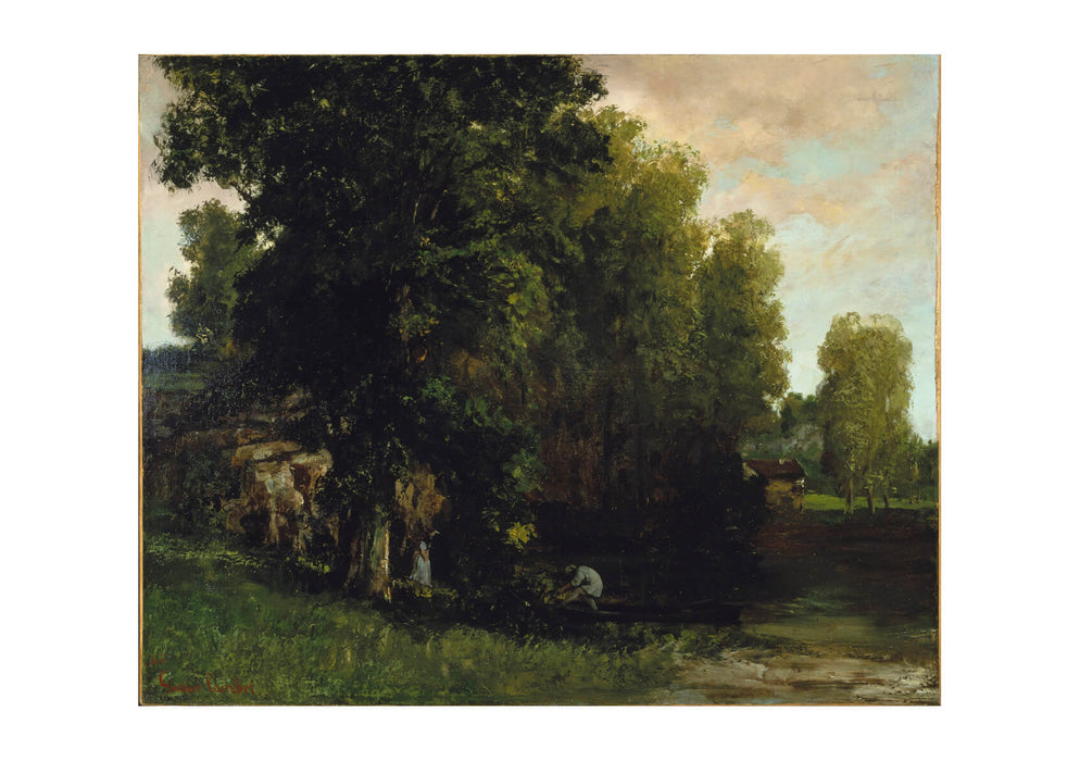 Gustave Courbet - The Edge Of The Pool Au Bord De Letang