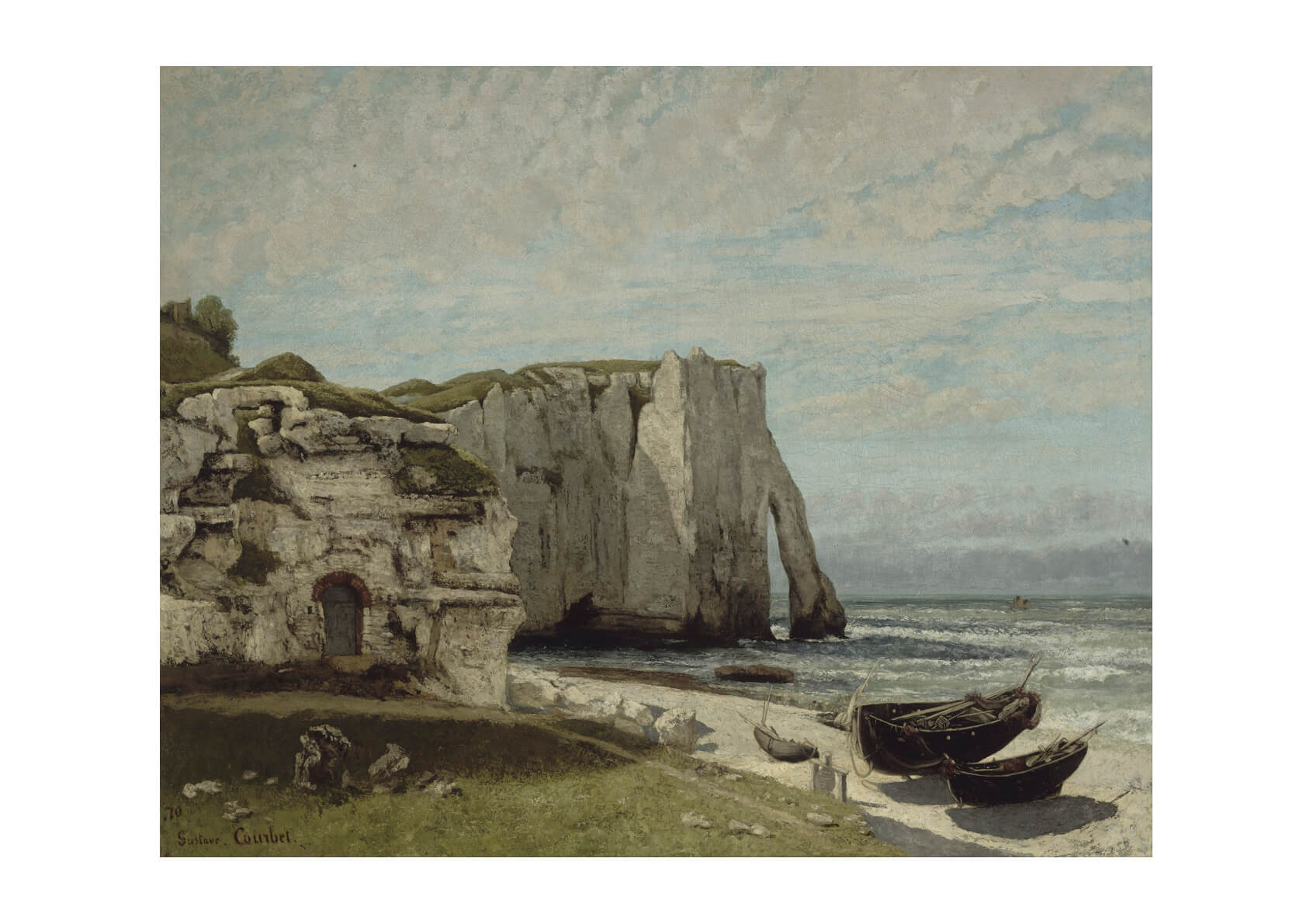 Gustave Courbet - The Etretat Cliffs After The Storm