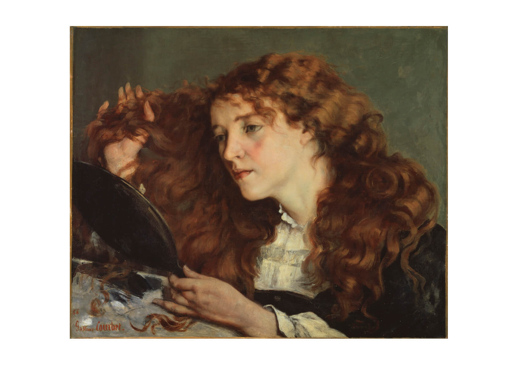 Gustave Courbet Jo the Beautiful Irish Girl
