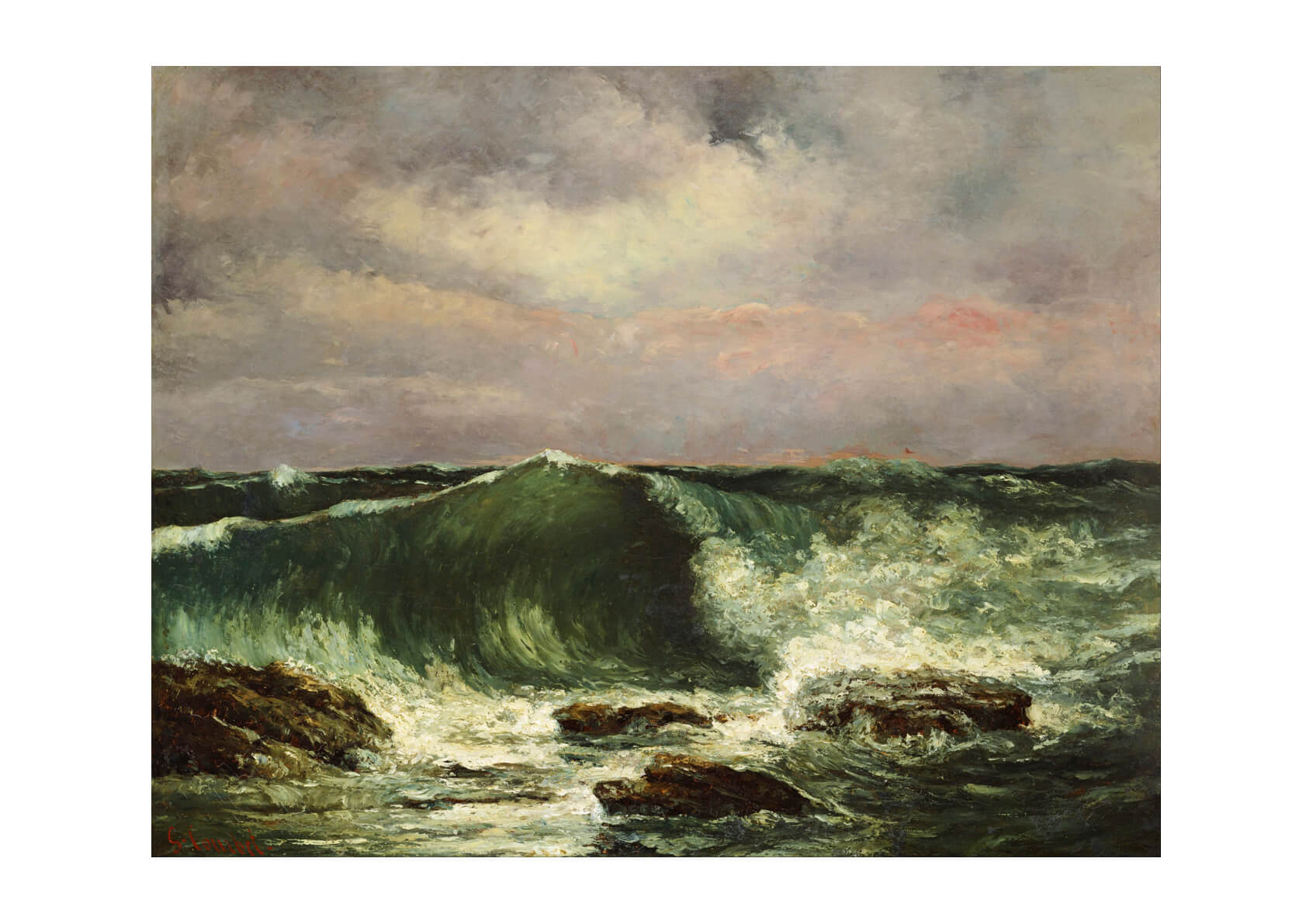Gustave Courbet Waves