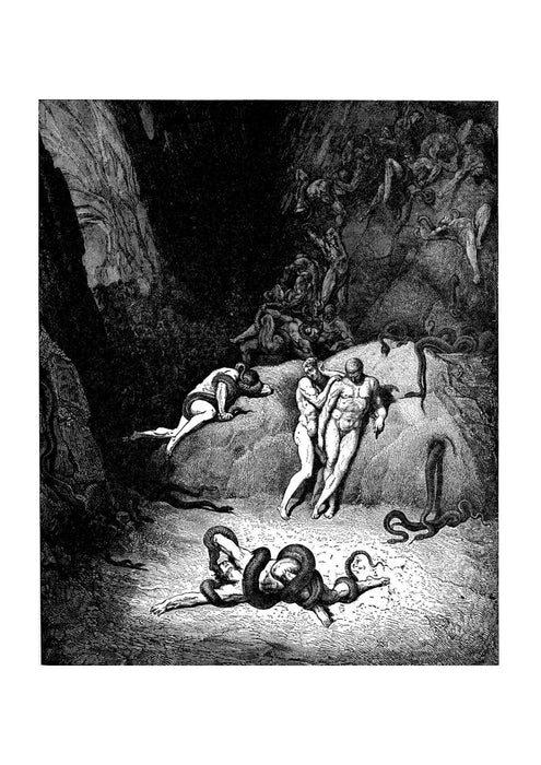 Gustave Doré - Dante's Inferno - Changing Into Serpent