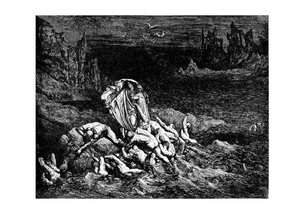 Gustave Doré - Dante's Inferno - Show Souls Of Wrathful