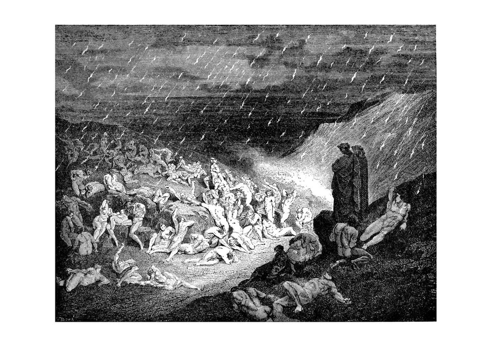 Gustave Doré - Dante's Inferno - Violent In Rain Of Fire