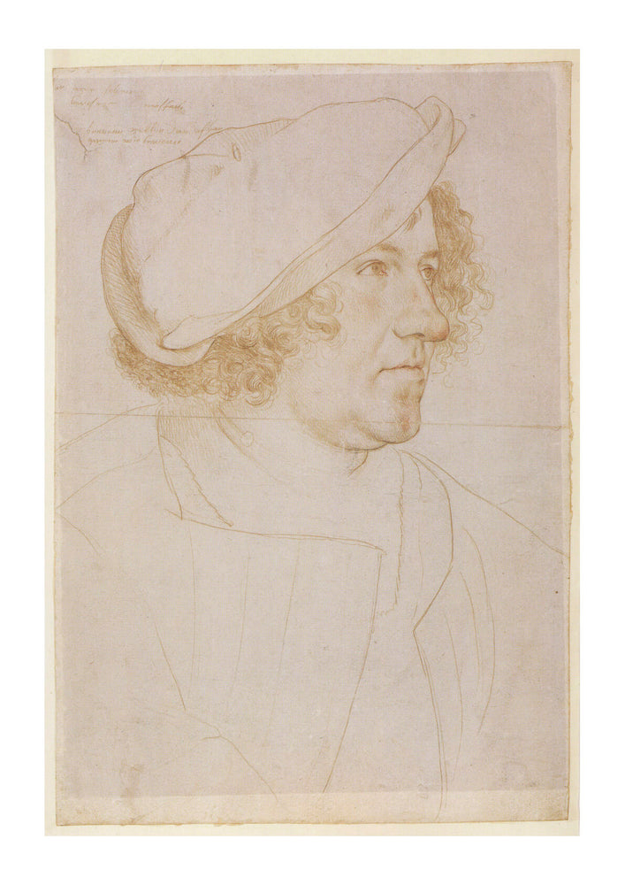 Hans The Younger - Portrait drawing of Jakob Meyer