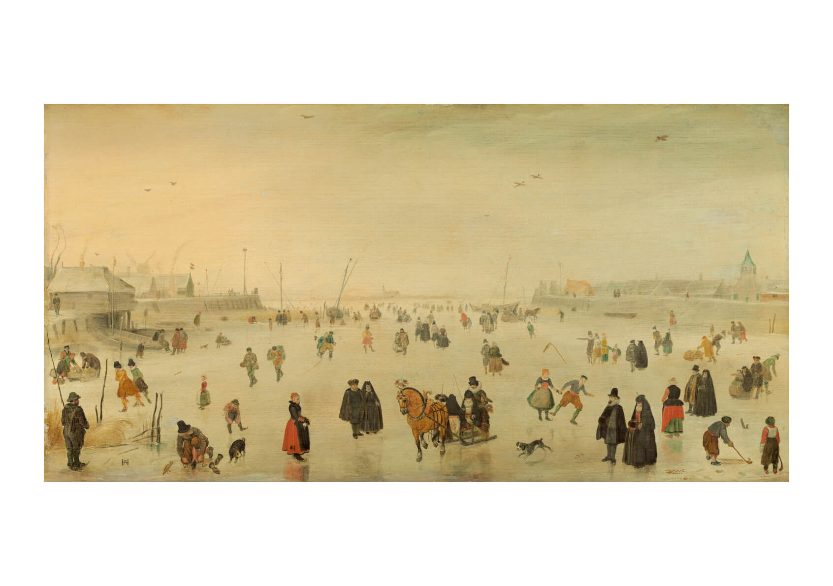 Hendrick Avercamp - A Scene On The Ice