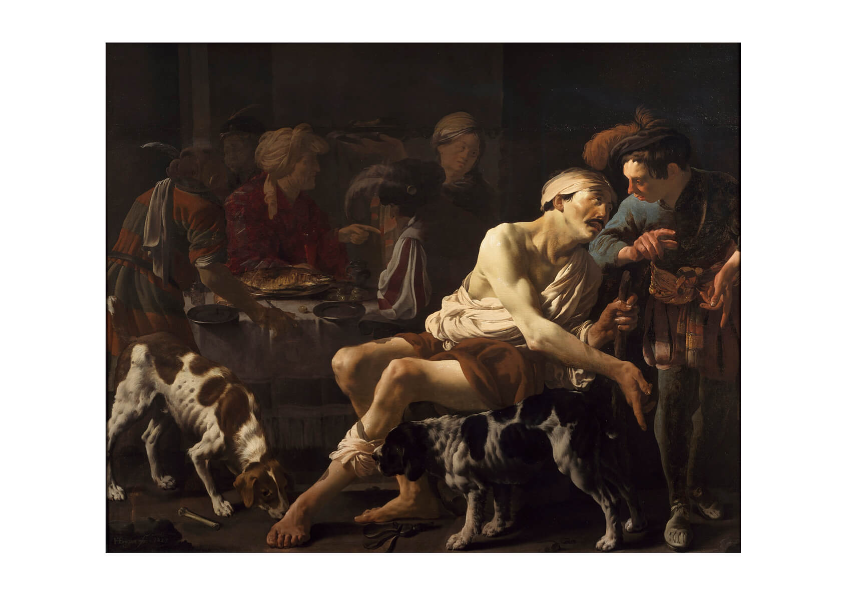 Hendrick Ter Brugghen - Rich Man And The Poor Lazarus