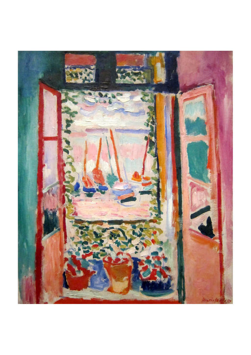 Henri Matisse Open Window Collioure 1905