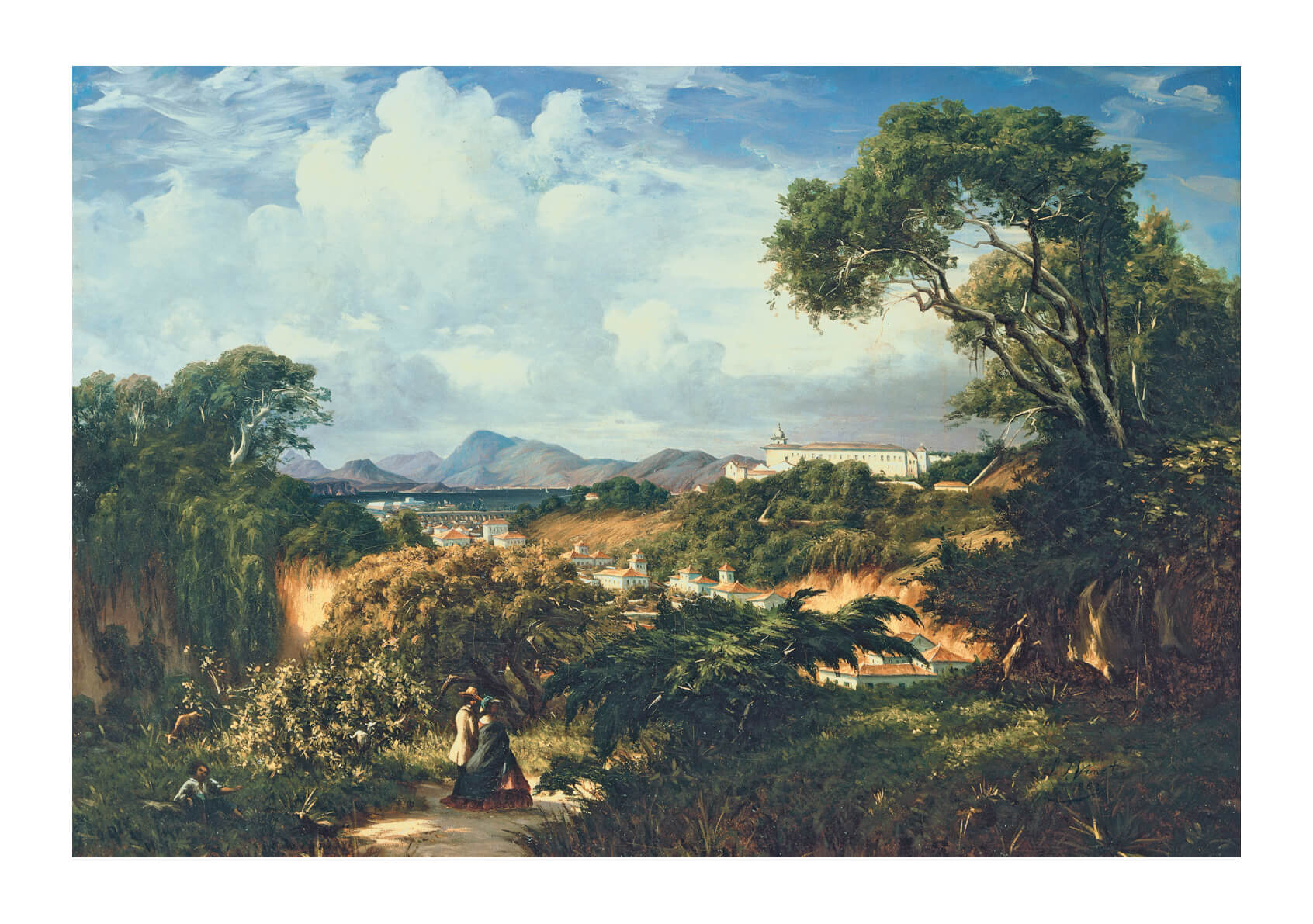 Henri Nicolas Vinet - View Of Santa Teresa