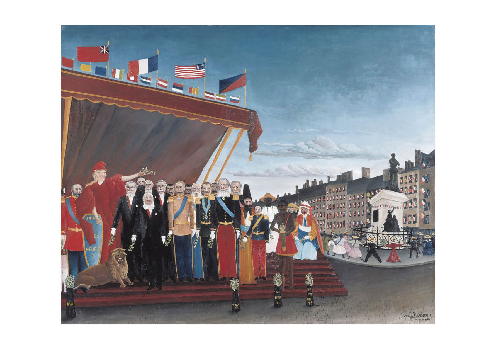 Henri Rousseau - Foreign Powers Coming to Greet the Republic