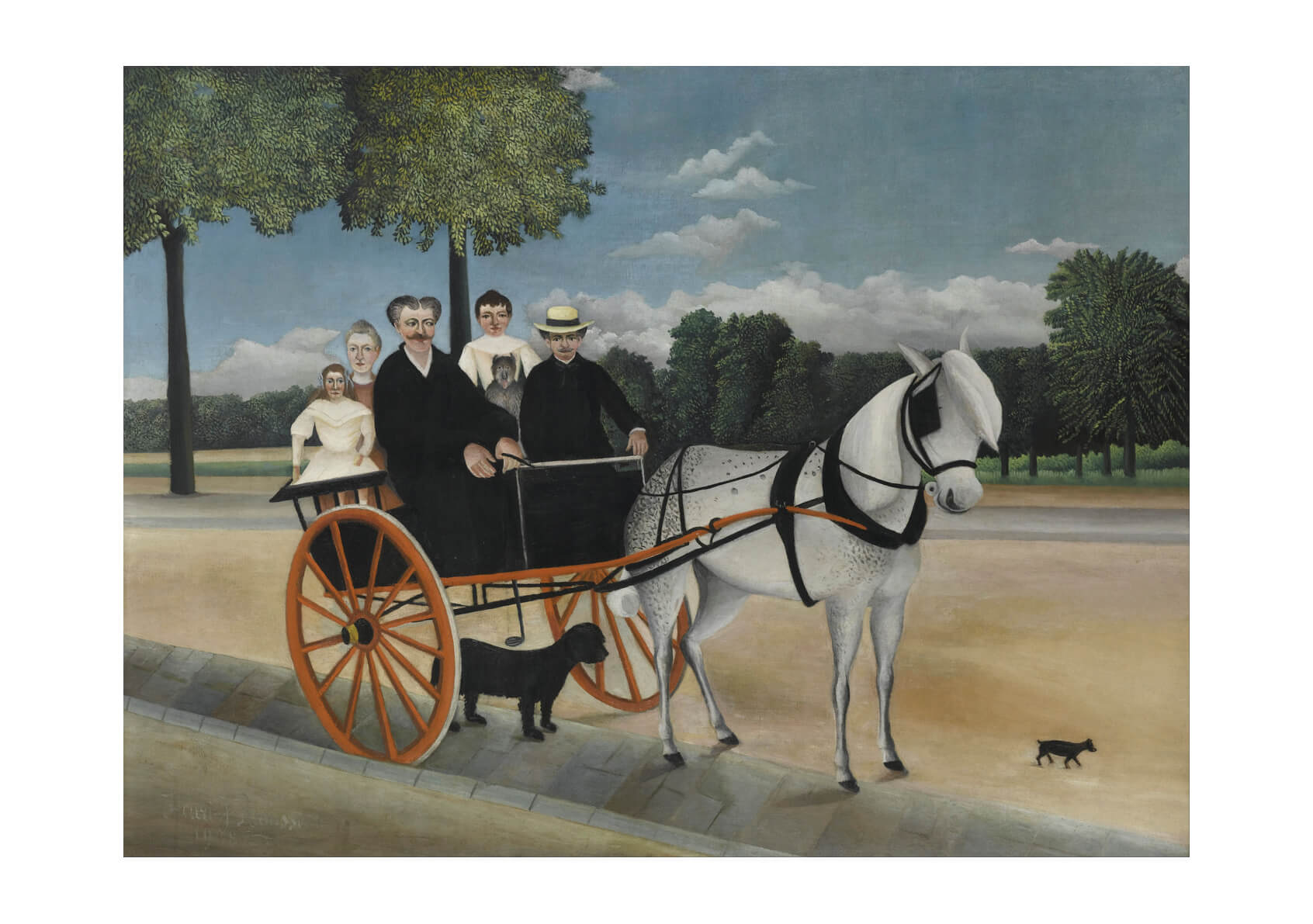 Henri Rousseau - Hoese and Cart