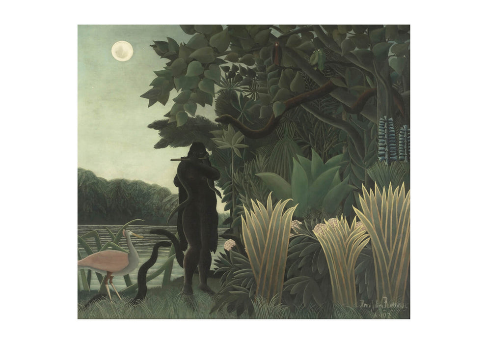 Henri Rousseau Known As Le Douanier - The Snake Charmer