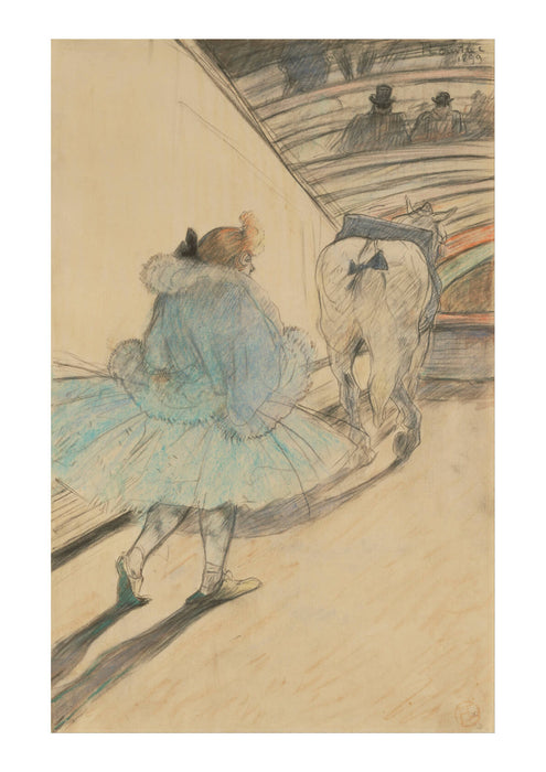 Henri Toulouse Lautrec - At the Circus- Entering the Ring