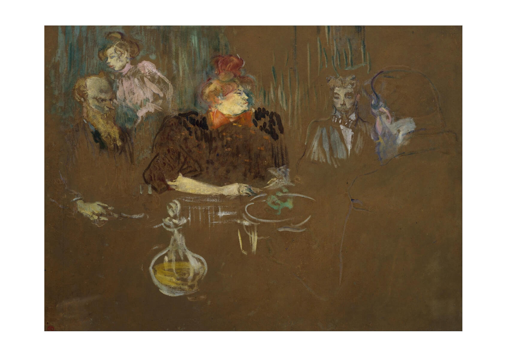 Henri Toulouse Lautrec - At the Table of Monsieur and Madame Natanson