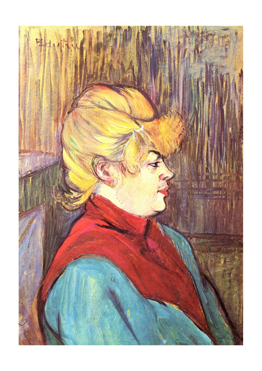 Henri Toulouse Lautrec - Woman in Blue and Red