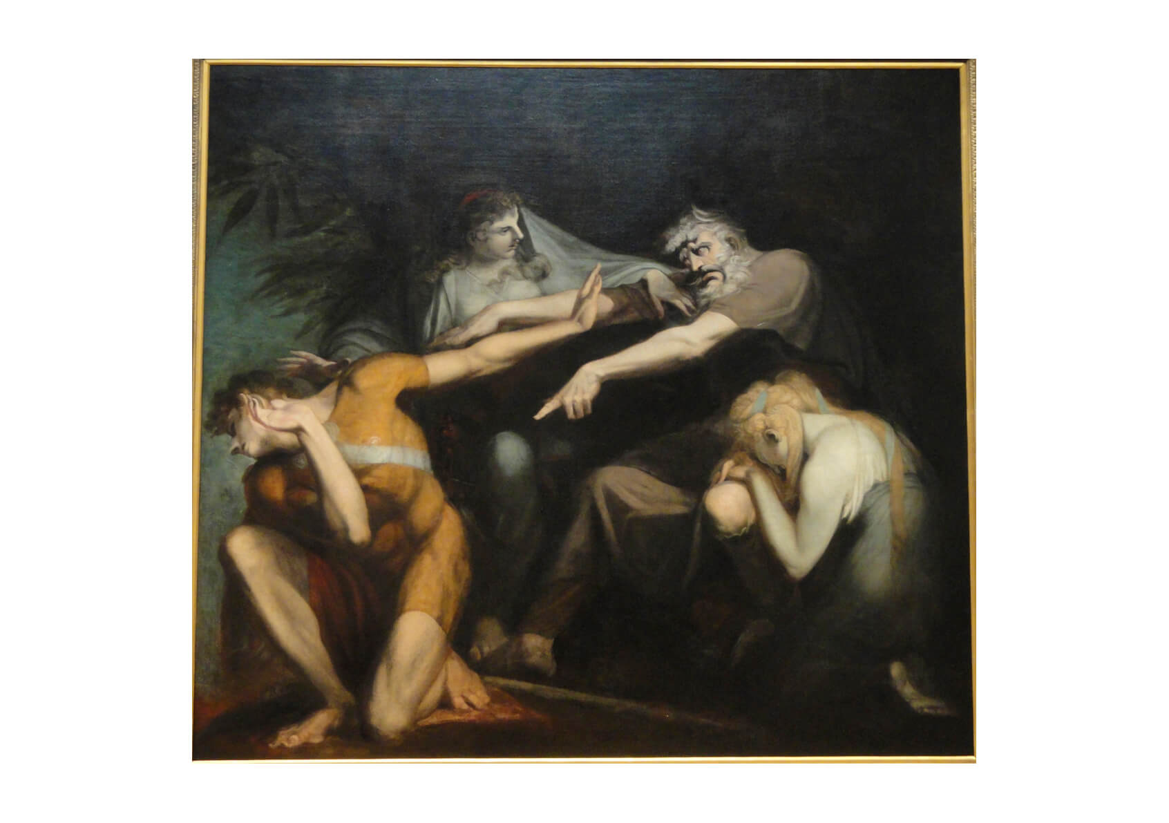 Henry Fuseli - Oedipus Cursing His Son Polynices