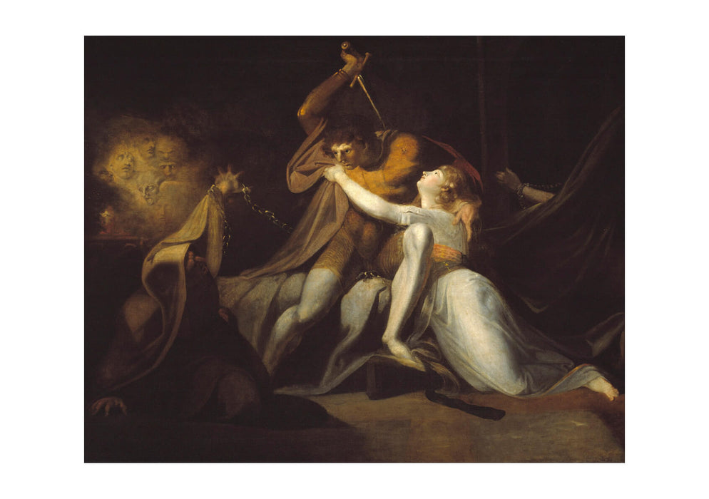 Henry Fuseli - Percival Delivering Belisane from Urma