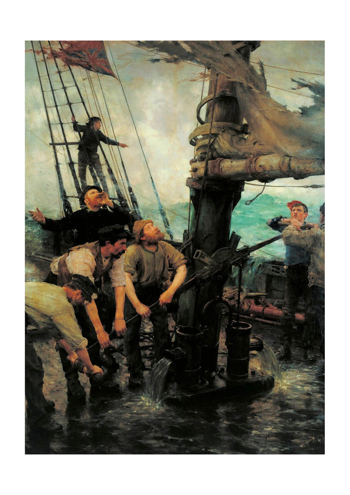 Henry Scott Tuke - All Hands to the Pumps