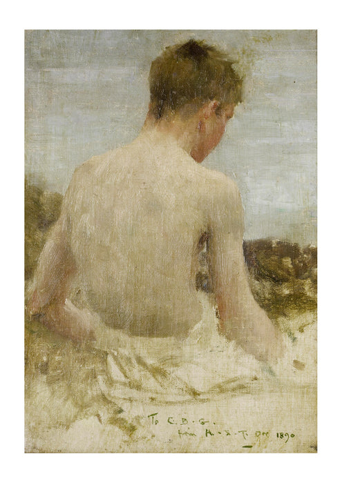 Henry Scott Tuke - Back of a boy bather