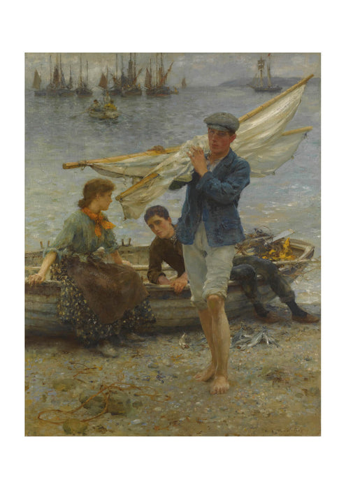Henry Scott Tuke - Return from fishing (1907)