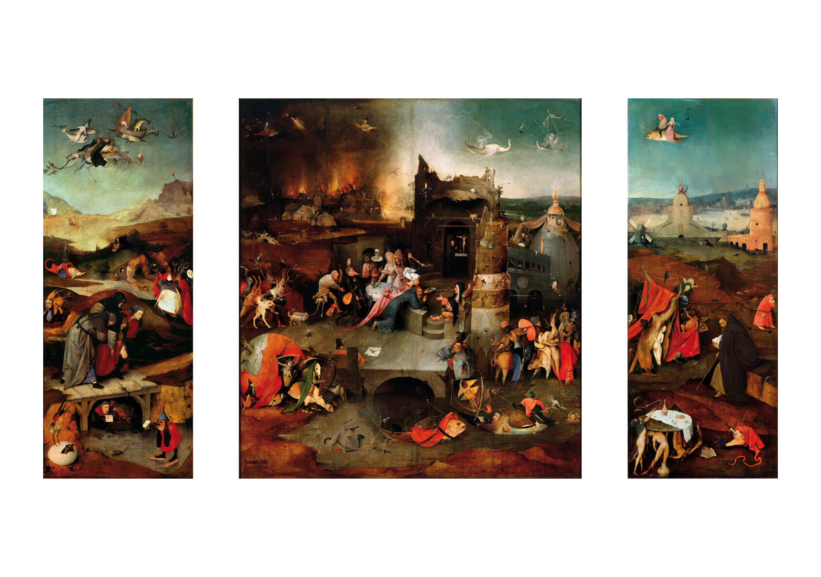 Hieronymus Bosch - Temptation of Saint Anthony
